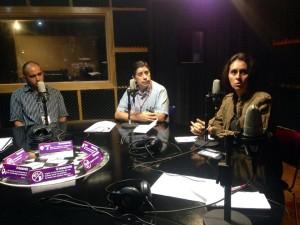 de Izquierda  a Derecha Pedro Paredes; Ulises Farías; Arcelia Caiceros